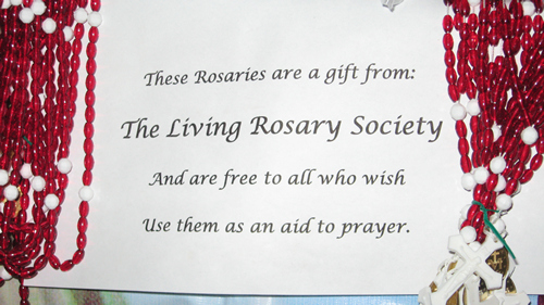 Universal Living Rosary Association Missionary Center, Australia.