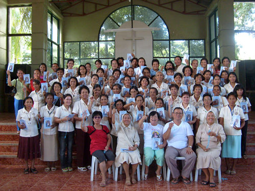 Fr. Lolan Tabo-tabo and Carmelita G. Baric and Universal Living Rosary Association of Saint Philomena Members, San Carlos City, Negros Occidental, Philippines